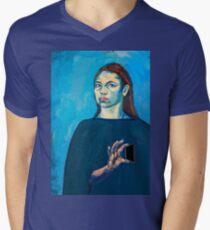 Check Yourself (self portrait) Men's V-Neck T-Shirt