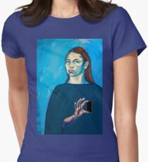 Check Yourself (self portrait) Women's Fitted T-Shirt