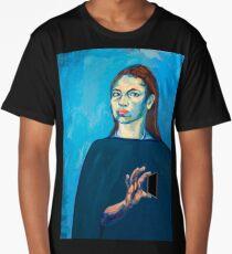 Check Yourself (self portrait) Long T-Shirt