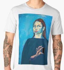 Check Yourself (self portrait) Men's Premium T-Shirt