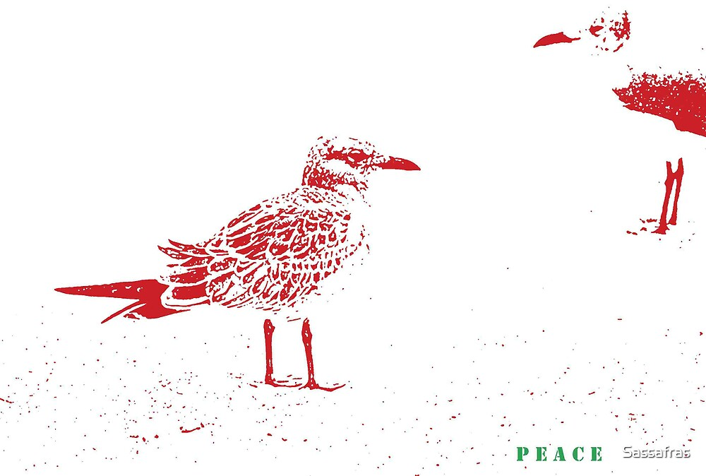 """--""""Peace to all on Red Bubble""""--from Joshua by Sassafras"""