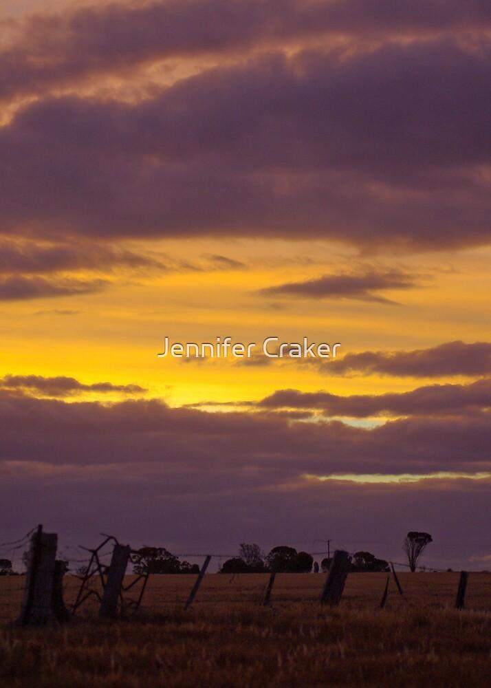 Golden Sunset Silhouette by Jennifer Craker
