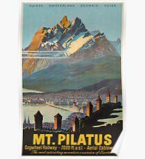 Mt. Pilatus, Schweiz, Ski Poster Poster