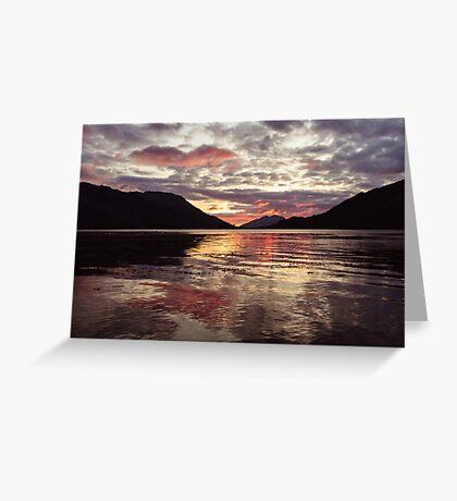 Invercoe Sunset Greeting Card