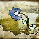 the blue flower by Albert