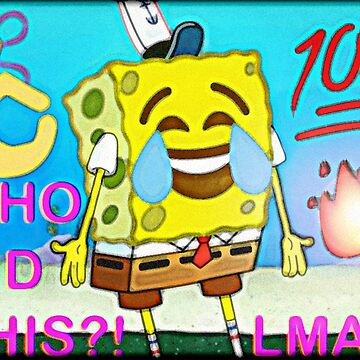 Spongebob Crying-Laughing Emoji  by xMarley