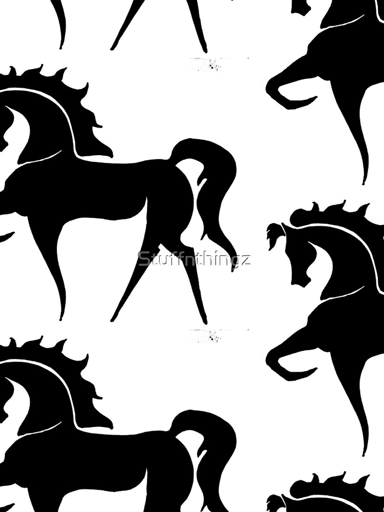 BIG - Prancing Horse In Black by Stuffnthingz