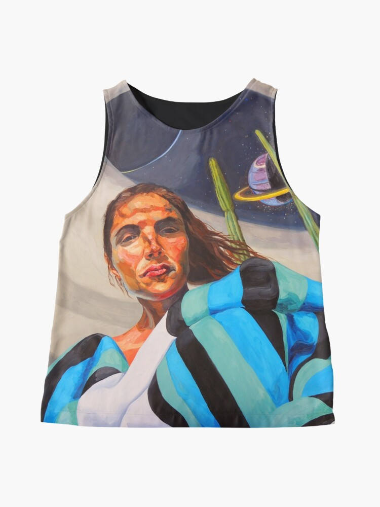 Alternate view of Planetary Peace (self portrait) Sleeveless Top
