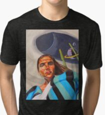 Planetary Peace (self portrait) Tri-blend T-Shirt