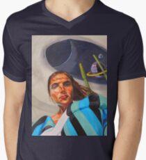 Planetary Peace (self portrait) Men's V-Neck T-Shirt