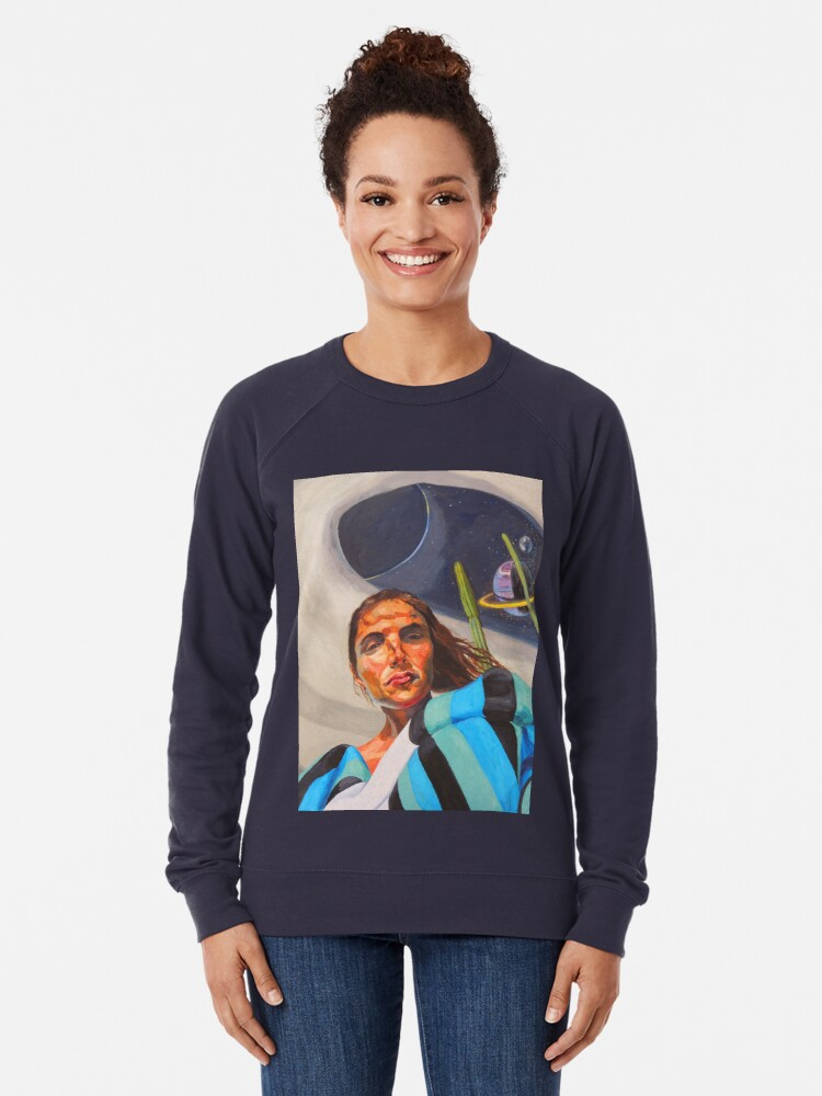 Alternate view of Planetary Peace (self portrait) Lightweight Sweatshirt