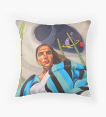 Planetary Peace (self portrait) Throw Pillow