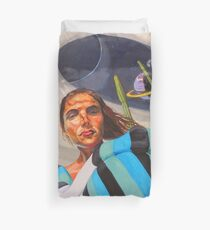 Planetary Peace (self portrait) Duvet Cover