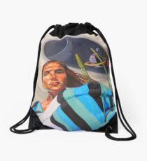 Planetary Peace (self portrait) Drawstring Bag