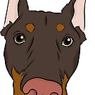 Brown and Tan Doberman  by rmcbuckeye