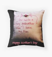 Fairy Godmother: Mother's Day Throw Pillow
