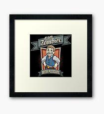 I kill zombies Framed Print