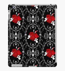Retro . Red roses on black iPad Case/Skin