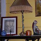 Still Life w/ lamp by Julie Sherlock