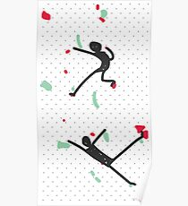 Red & Green Bouldering Poster