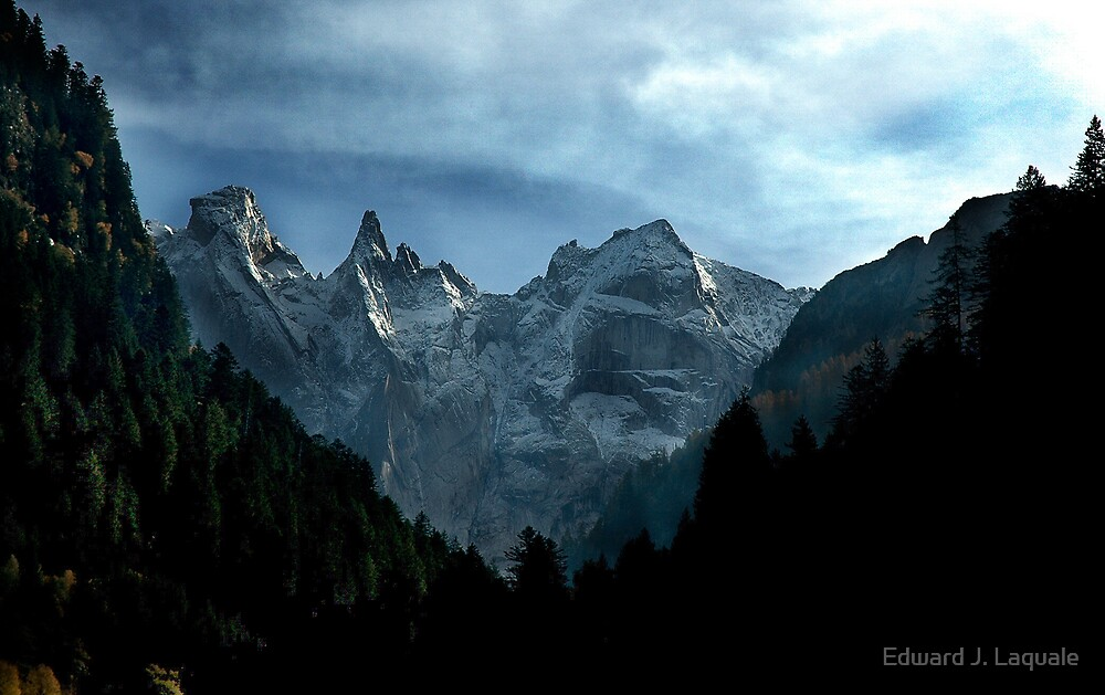 ON THE ROAD TO ST. MORITZ FROM ITALY by Edward J. Laquale