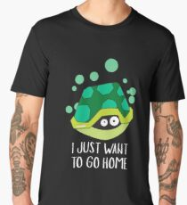 I Just Want To Go Home - Turtle, Turtle Lover, Reptile, Animal Men's Premium T-Shirt