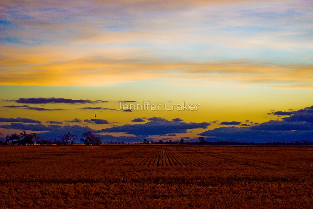 Typical Wimmera Sunset by Jennifer Craker