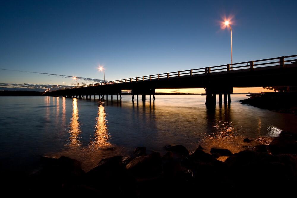 Bribie Island Bridge Sunset by Martin Canning