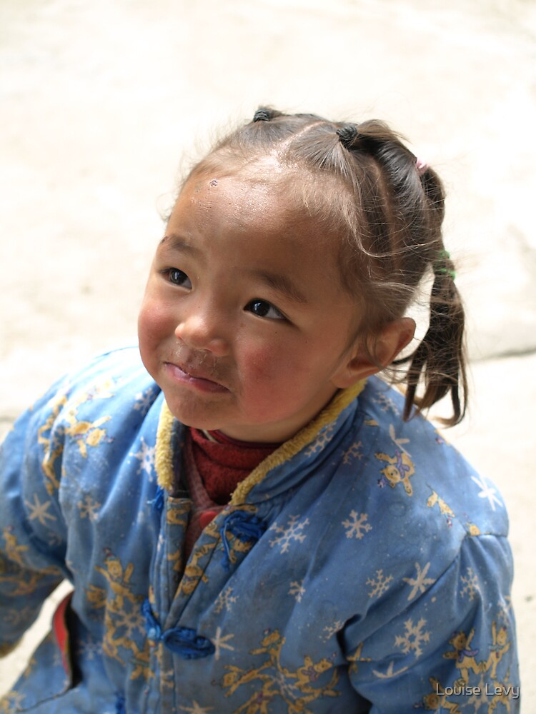 Young Tibetian child by Louise Levy