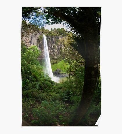 Bridal Veil Falls - New Zealand Poster