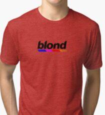 Underlined blond black Tri-blend T-Shirt