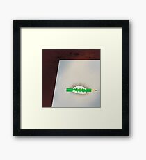 Paper tooth Framed Print