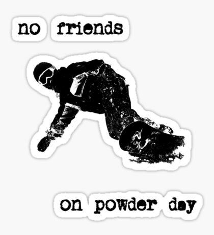 Snowboard T shirt Sticker