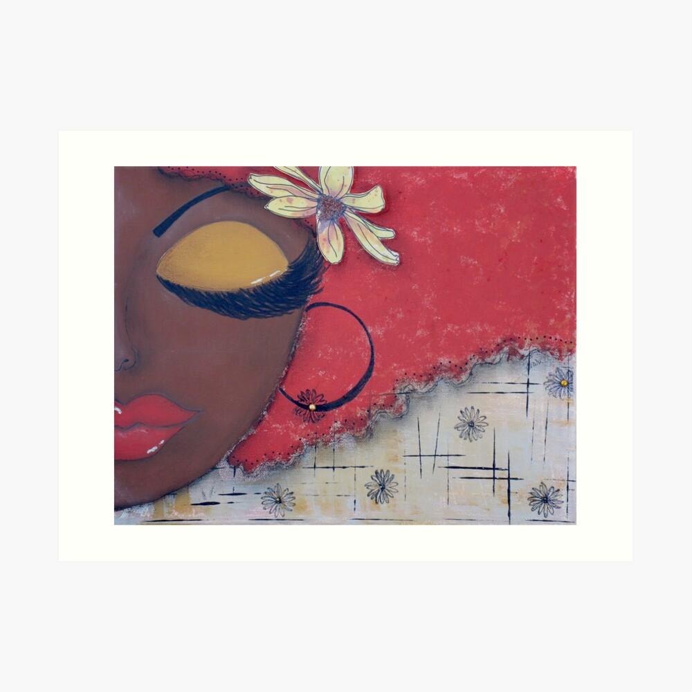 Sassy Chocolate Girl, African American Art Print