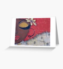 Sassy Chocolate Girl, African American Greeting Card