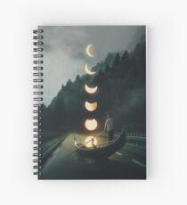 Moon Ride Spiral Notebook