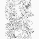 Hibiscus Infinity - Ink Simple Ink Lines by kikoeart