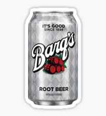 Barq's Root Beer Can Sticker