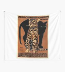 1912 Ludwig Hohlwein Leopard Munich Zoo Poster Wall Tapestry