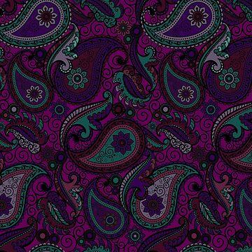 Purple Paisley  by SweetSapling