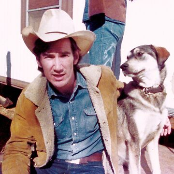 Townes Van Zandt and dog by nodeeperblue