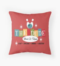 The Dude Bowling Throw Pillow