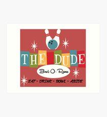 The Dude Bowling Art Print