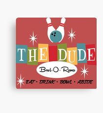 The Dude Bowling Canvas Print