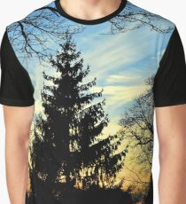 Silhouetted trees at sunset! Graphic T-Shirt