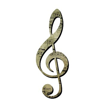 Treble Clef with Sheet Music by f-rico