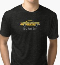 NYC Checker Cab Paxi Pixel 8-Bit Gift For New York Lovers Tri-blend T-Shirt
