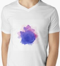 Abstract watercolor art hand paint on white background Men's V-Neck T-Shirt