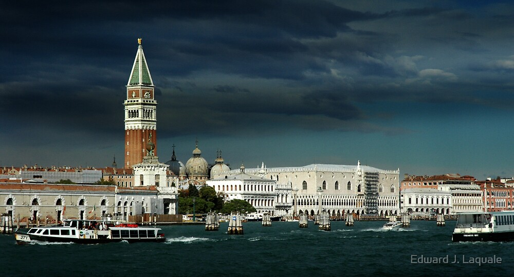 ST. MARKS AND DOGES PALACE, VENICE, ITALY by Edward J. Laquale