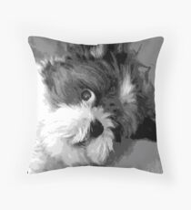 Say What? Cute Shih Tzu dog art Floor Pillow